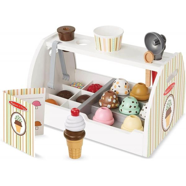 Melissa & Doug Wooden Ice Cream Counter Wooden Playset