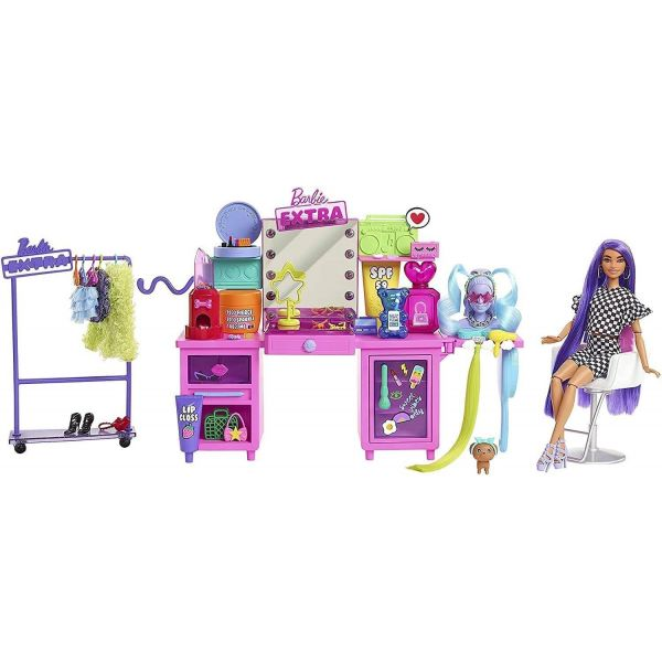 Barbie Extra Doll and Vanity Playset