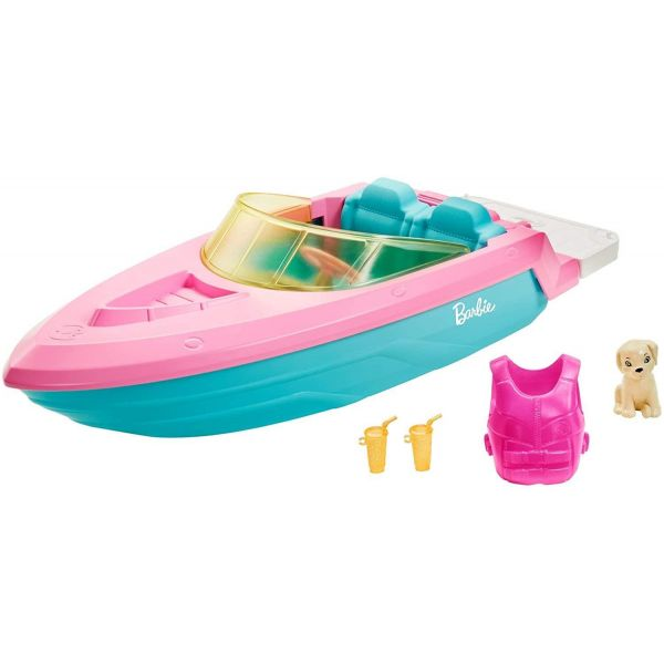 Barbie Boat with Puppy & Accessories