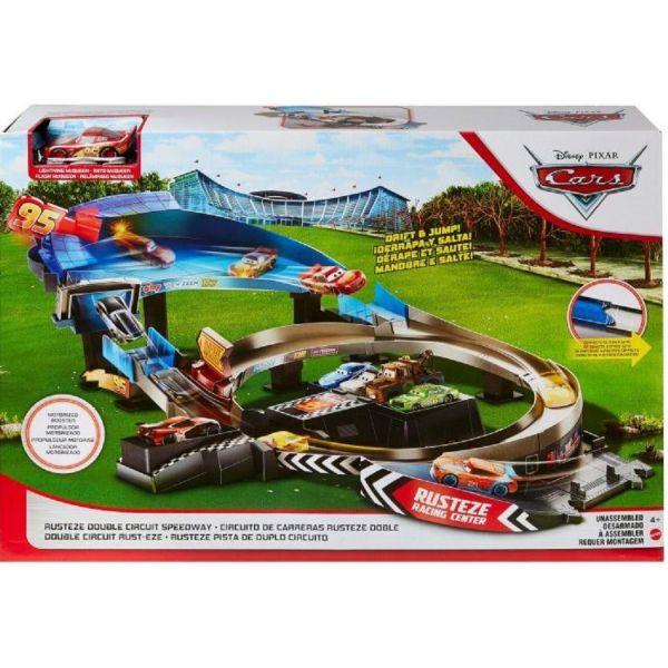 Disney Cars Rusteze Jump and Drift Racing Playset