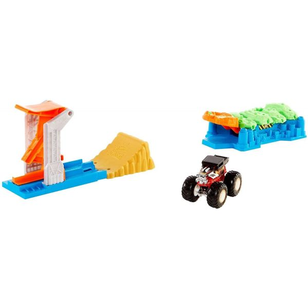 Hot Wheels Monster Truck Launch And Bash Play Set