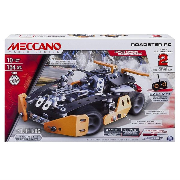 Meccano 2 in 1 Sports Roadster RC Model Set