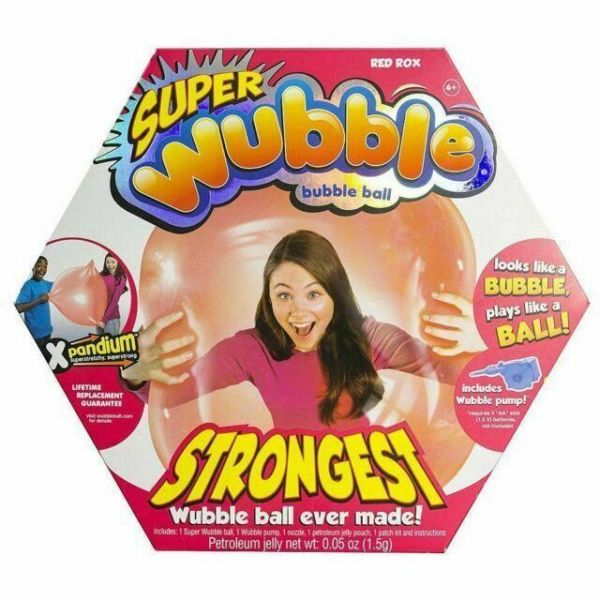 Red Super Wubble Bubble with Pump