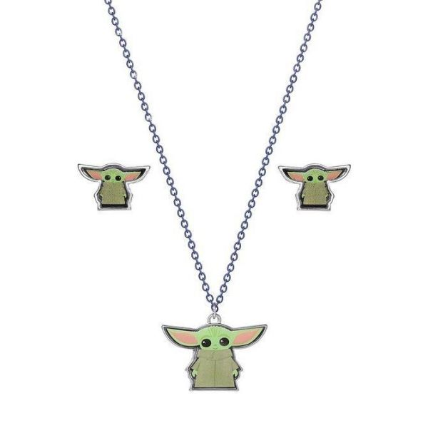 Star Wars The Mandalorian Earring and Necklace Set