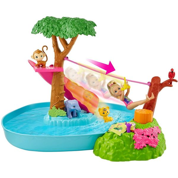 Barbie and Chelsea The Lost Birthday Splashtastic Pool Surprise Playset