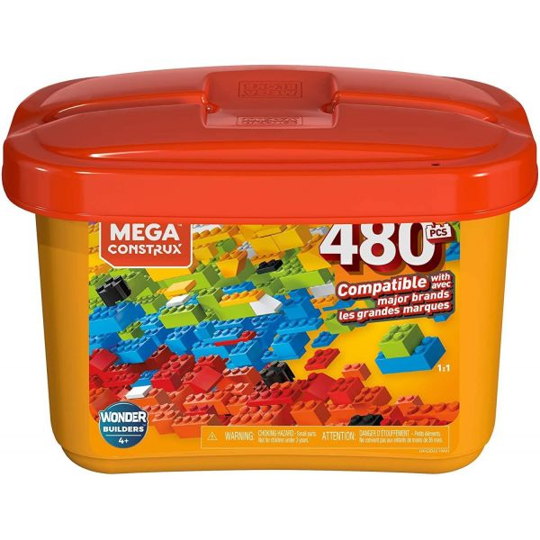 Mega Construx Wonder Builders 480 Piece Building Tub