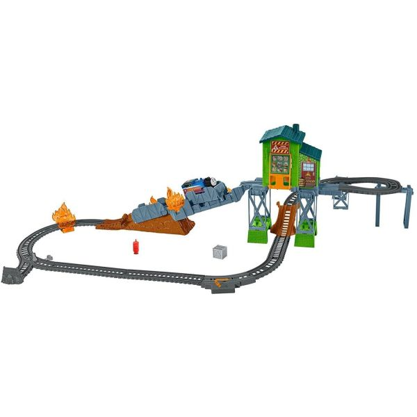 Thomas & Friends Trackmaster Fiery Rescue Playset