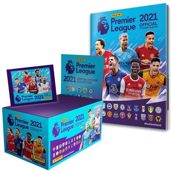 Panini Premier League 2021 Sticker Collection 100 Packs With Free Sticker Album