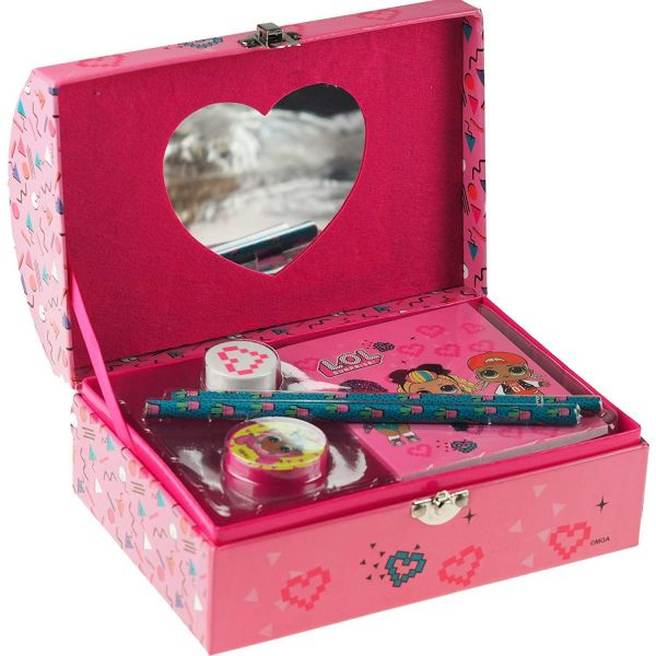 L.O.L. Surprise! Stationery Jewellery Storage Box with Mirror & Accessories