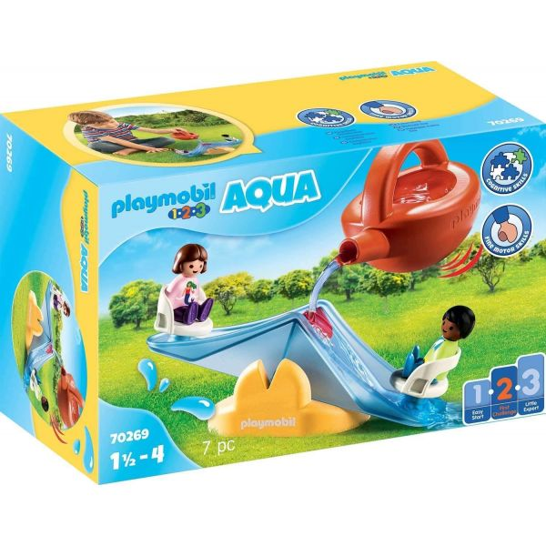 Playmobil 70269 1.2.3 AQUA Water Seesaw with Watering Can