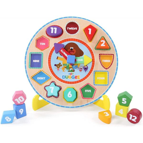 Hey Duggee Wooden Puzzle Clock with Stand