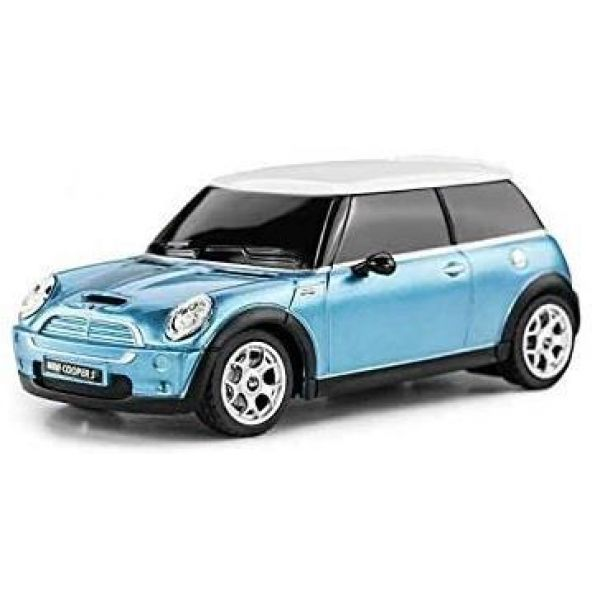 1:24 Scale Blue Mini Cooper S Radio Controlled Car