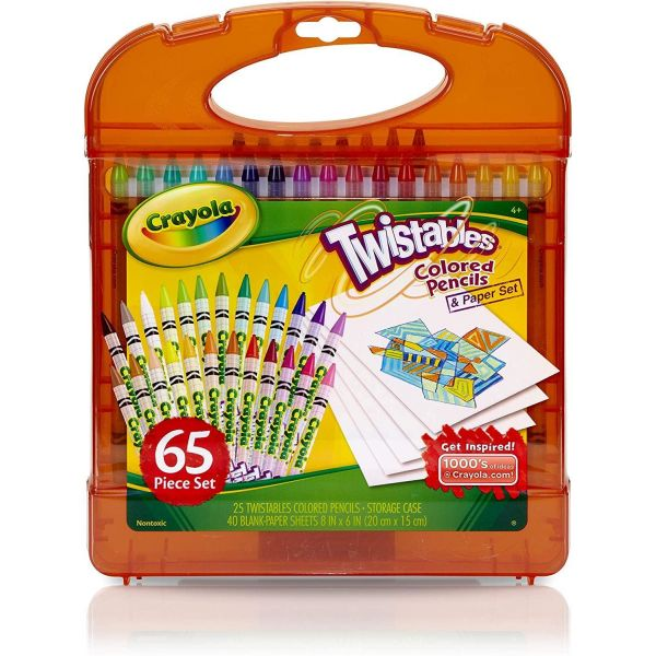 Crayola Mini Twistables Crayon 65 Piece Kit Orange
