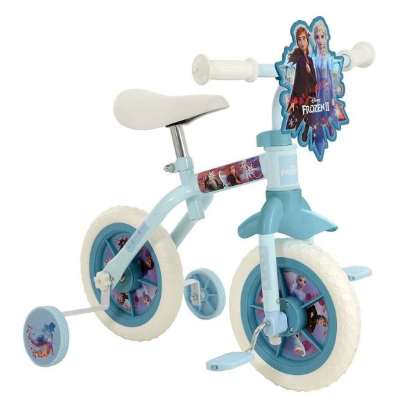 "Disney Frozen 2 10"" 2 in 1 Training Bike"
