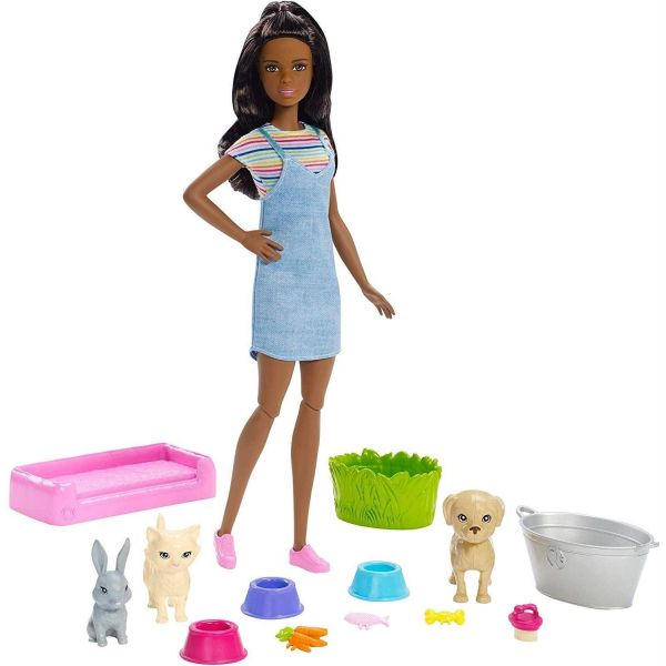 Barbie Play n Wash Pets Doll