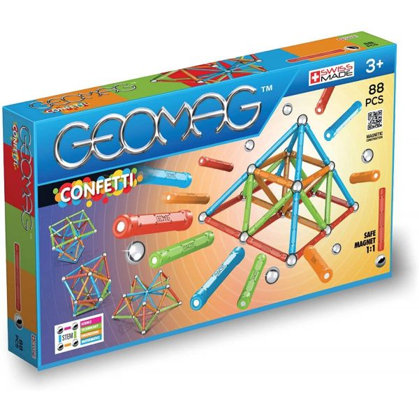 Geomag Confetti Construction 88 Piece Set