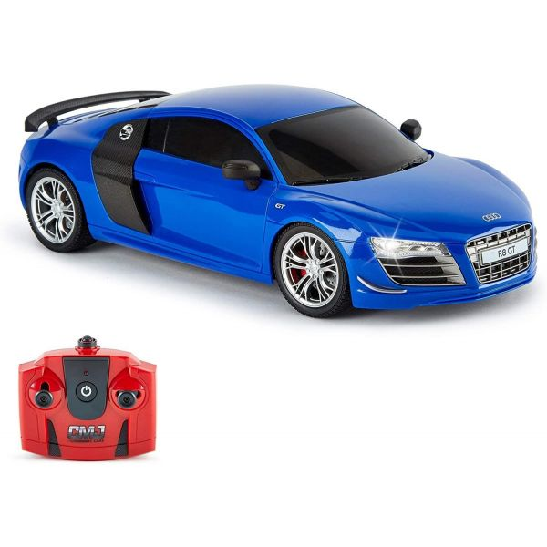 1:18 scale Blue Audi R8 GT 2.4Ghz Radio Controlled Car