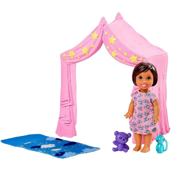 Barbie Babysitters Bedtime Tent Playset