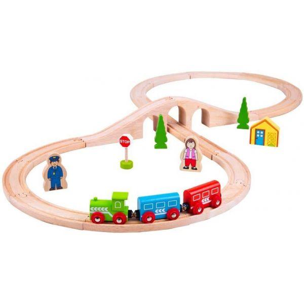 Bigjigs Wooden Figure of Eight Train Set
