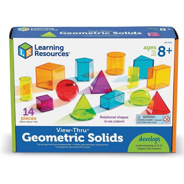 Learning Resources View-Thru Colourful Geometric Shapes