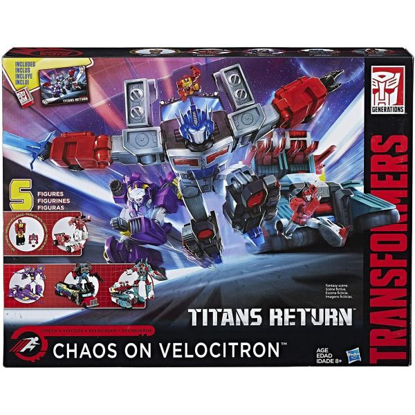 Transformers Generations Chaos on Velocitron 5 Figure Pack