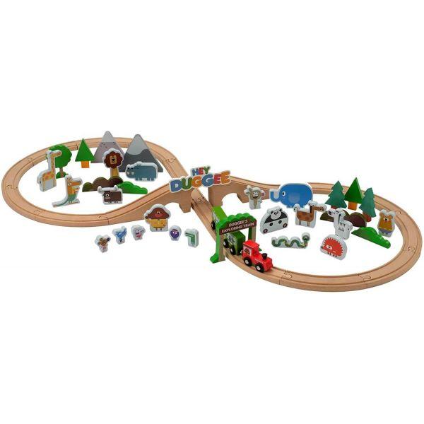Hey Duggee 50 Piece Wooden Safari Train Set