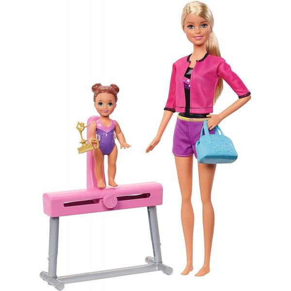 Barbie Gymnastics Coach Doll Set