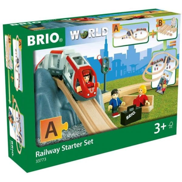 BRIO World Wooden Railway Starter Set Pack A