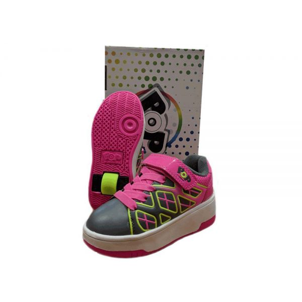 Heelys Pop Charcoal Pink Size 3