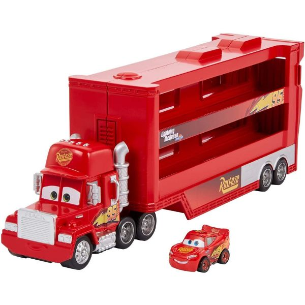 Disney Cars Mini Racer Mack Truck Transporter