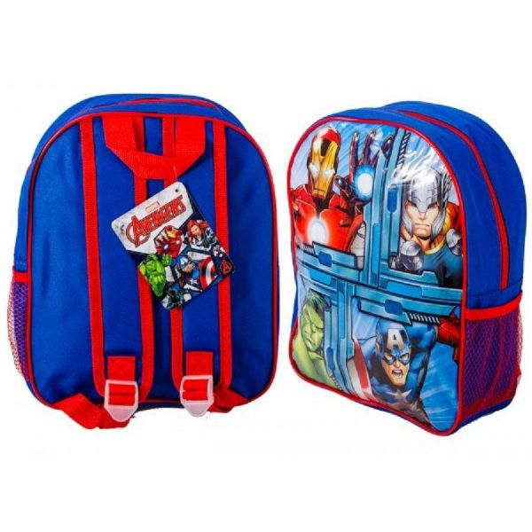Avengers Small Light Canvas Backpack with Mesh Pocket