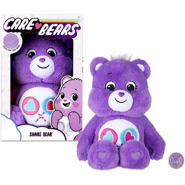 "Care Bear 14"" Share Bear Plush and Care Coin"