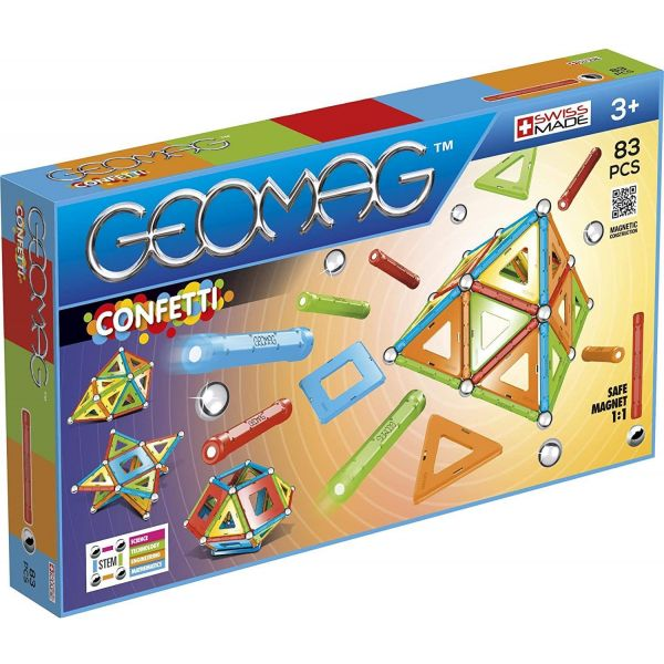 Geomag Confetti Construction 83 Piece Set
