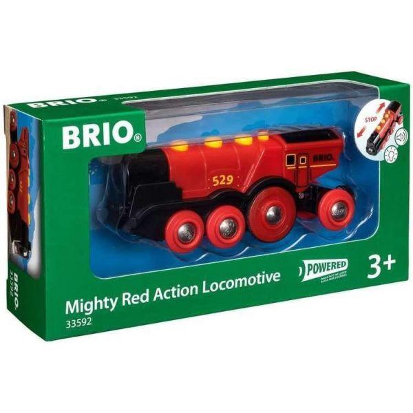 BRIO Mighty Red Action Wooden Locomotive