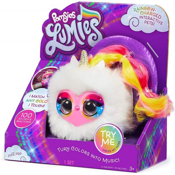 Pomsies LUMIES Pixie Pop Pink Face