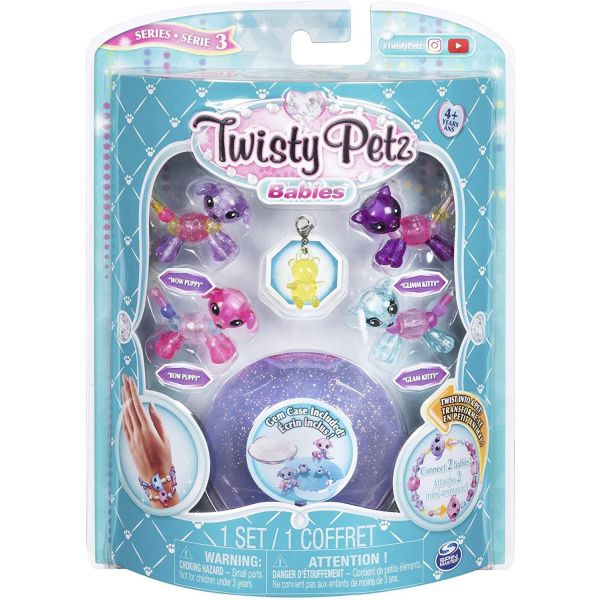 Twisty Petz Babies 4 Pack- Wow Puppy and Glimm Kitty