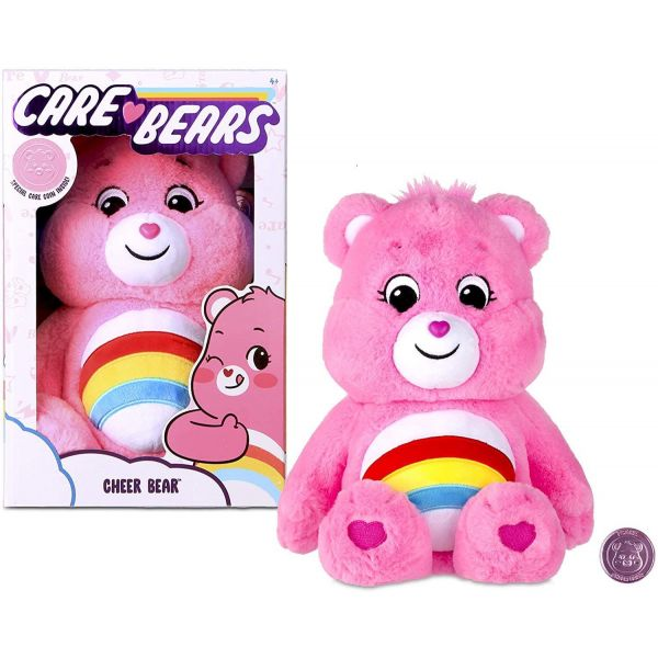 "Care Bear 14"" Cheer Bear Plush and Care Coin"