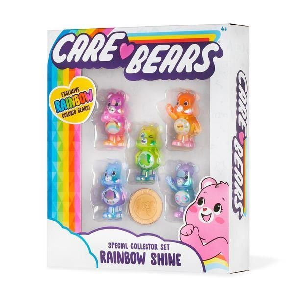Care Bears Metallic Figure Box Set Plus Coin