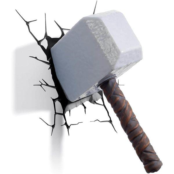 Marvel Thor Hammer 3D Wall Light