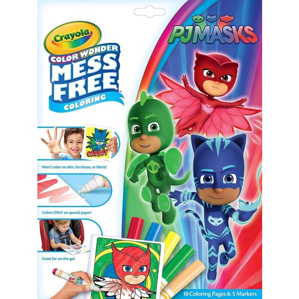 Crayola Mess Free Colour Wonder PJ Masks