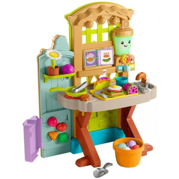 Fisher Price Laugh and Learn Grow-the-Fun Garden to Kitchen