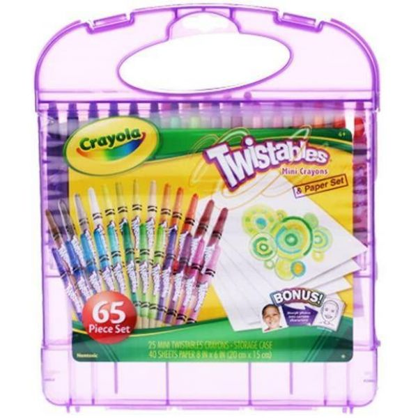 Crayola Mini Twistables Crayon 65 Piece Kit Purple