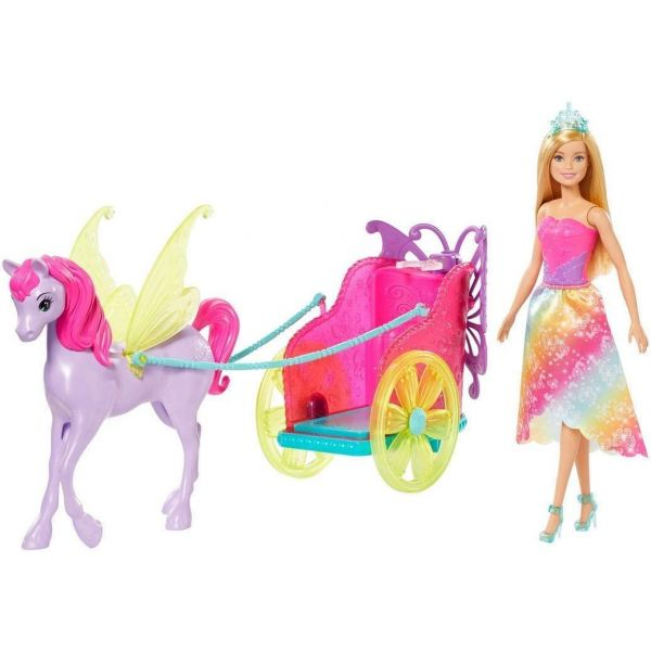 Barbie Dreamtopia with Fantasy Horse and Chariot