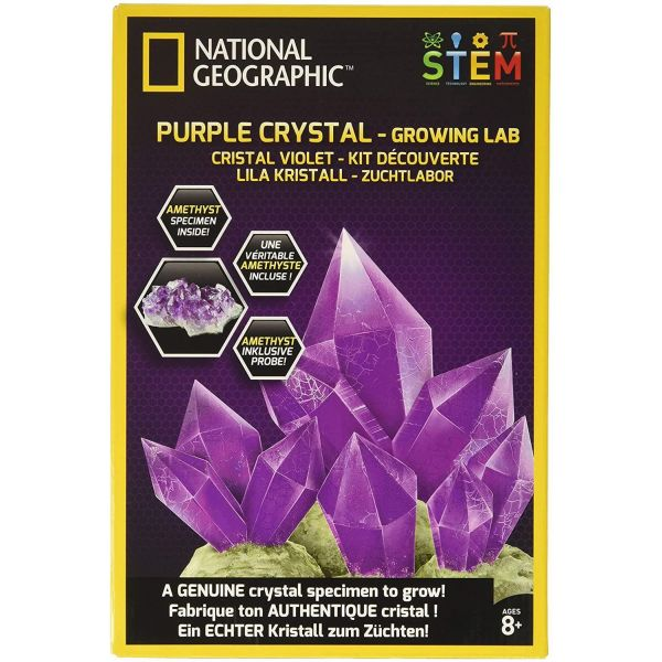 National Geographic Purple Crystal Growing Kit