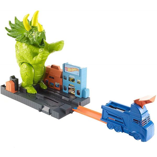 Hot Wheels City Smashin' Triceratops Playset