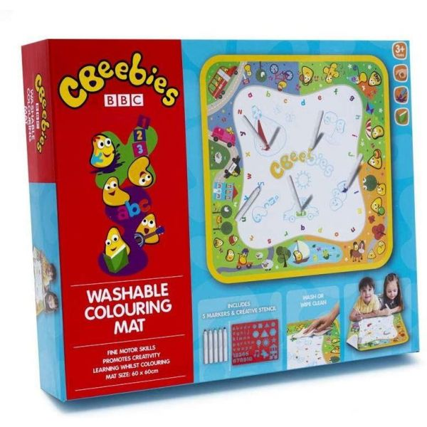 Cbeebies Washable Colouring Mat