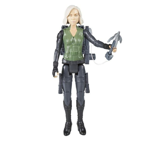 "Avengers Infinity War 12"" Titan Hero Series Power FX Black Widow"