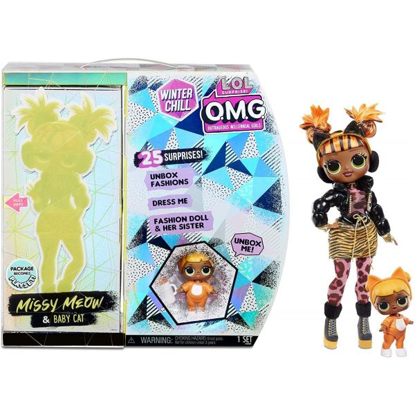 L.O.L. Surprise! O.M.G. Winter Chill Missy Meow Doll
