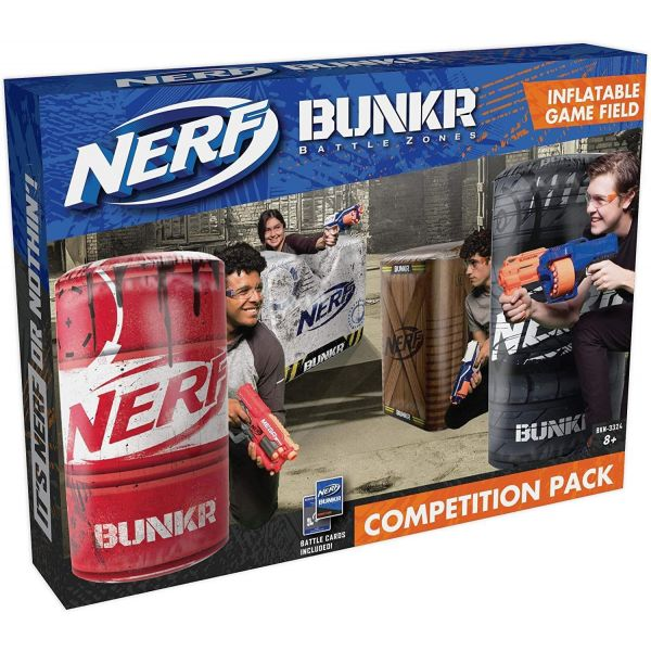 Nerf Bunkr Competition Pack - Wall, Barrel, Crate and Tyre