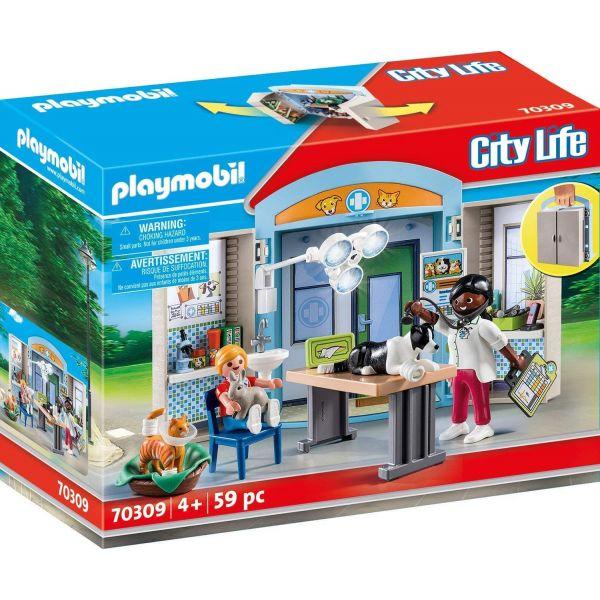 Playmobil 70309 Vet Clinic Play Box